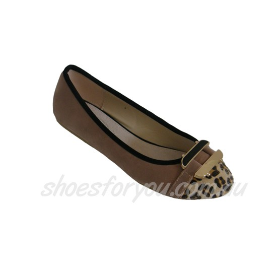 WOMENS-DESIGNER-Ballet-Flats-Faux-Fur-PU-Leather-Sizes-6-7-8-9-10-Black-Beige