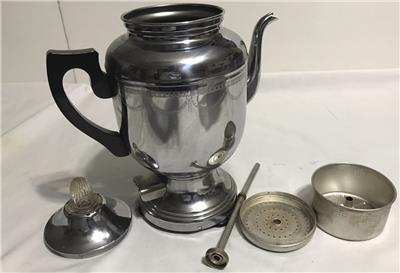Farberware Coffee Pot Electric Cord : Vintage Farberware Art Deco Chrome Electric Percolator Coffee Pot No cord