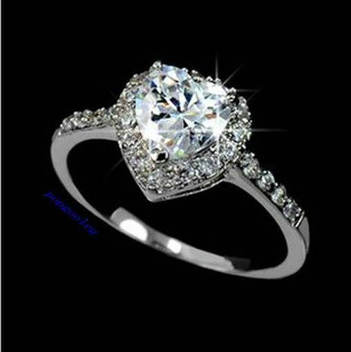 GP Austria Crystal Heart Wedding Engagement Ring Free Shipping EBay