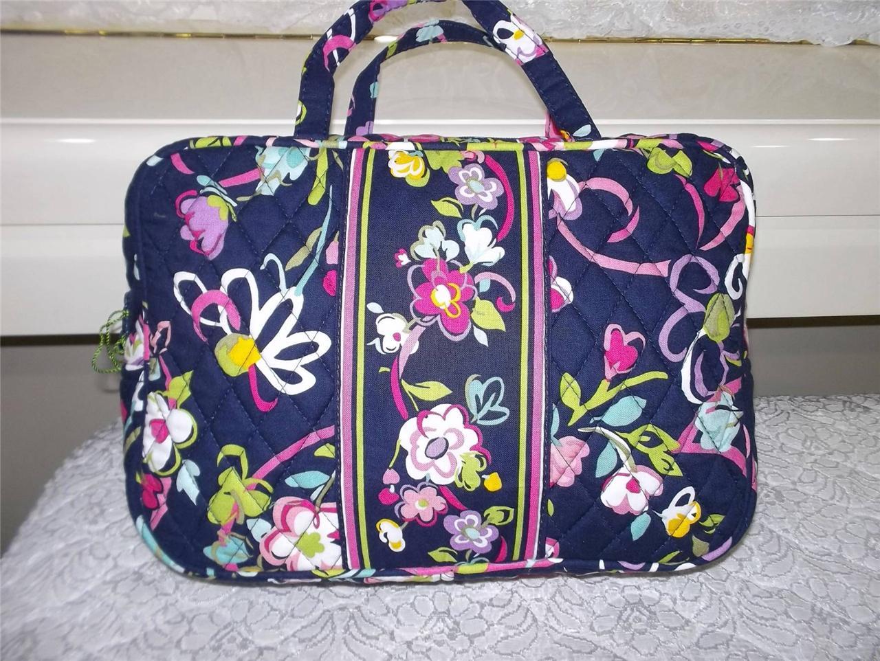nwt new vera bradley grand cosmetic bag in 8 patterns