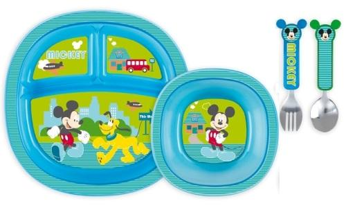 Munchkin-Disney-Baby-Dining-Set-Mickey-Minnie-Mouse-Pooh-BPA-Free-12-Months