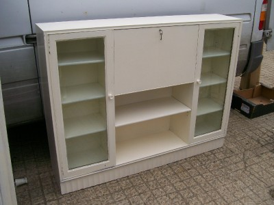 funky retro painted shabby chic bureau bookcase ebay