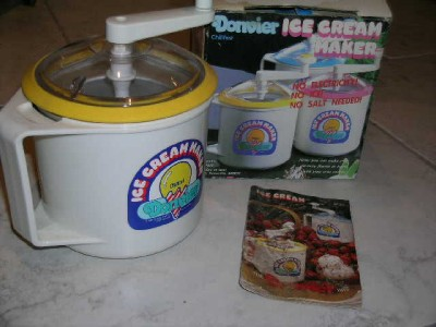 donvier ice cream maker instruction manual