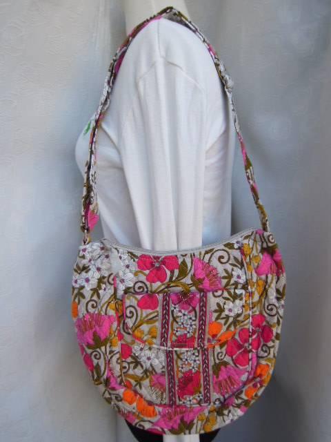 Nwt Vera Bradley Clare Bag Crossbody In Tea Garden Ebay