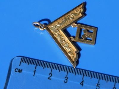 Antique 9ct Gold Masonic Past Masters Jewel Pendant 11g
