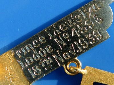 ANTIQUE 18CT GOLD MASONIC PAST MASTERS JEWEL PENDANT 8g