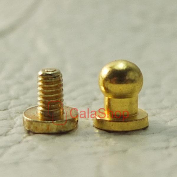 Set head button stud screwback leather screw