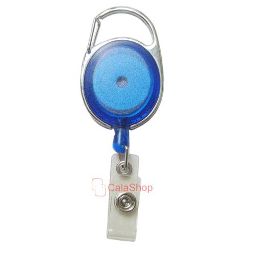 1 2 5 pcs Reels Retractable Badge ID Card Holder Oval Clear pick color