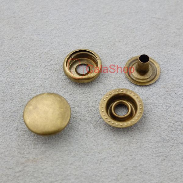 25 50 100 sets Leather craft Rapid Rivet Button METAL Snaps Fasteners 15mm 5/8""