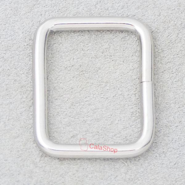 "1/2"" 5/8"" 3/4"" 1"" 12mm Inch Metal Square Rings 4 Dee webbing Belts Buckle Bag"