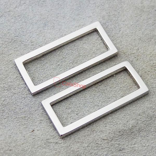 "18mm 1"" 25mm 2"" 50mm 1.5"" Rectangle Metal Square Ring webbing Belt ribbon buckle"