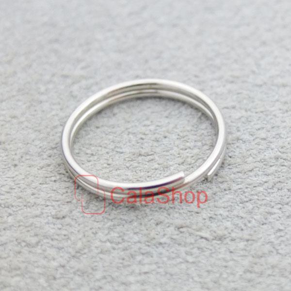 keyring Keychain split ring 4 Swivel Clip key 13mm 15mm 20mm 25mm 35mm 38mm