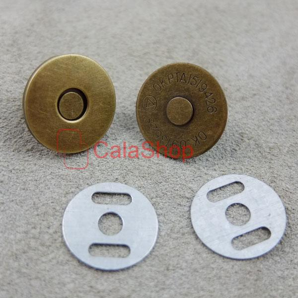 18mm Magnetic purse snaps closures Round Clasp Button Bag Thin