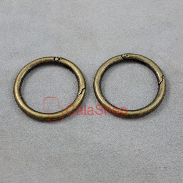 "Snap clip trigger spring gate Metal O ring keyring buckle 1"" 1.5"" 25mm 38mm"