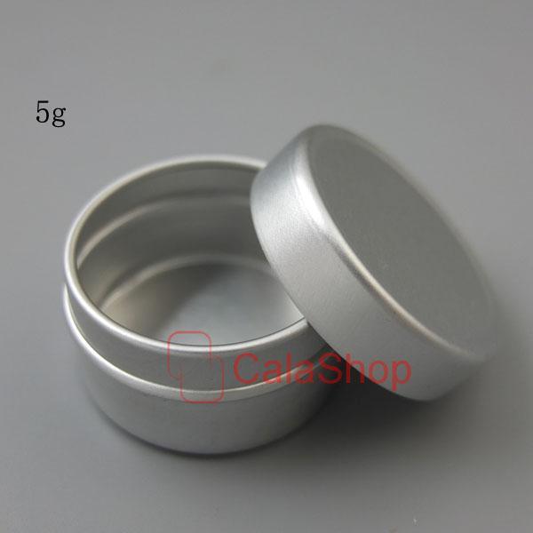 Empty Lip Balm Container Pot Cosmetic Jar Aluminum Tin 5ml 10ml 20ml 30ml 50ml K