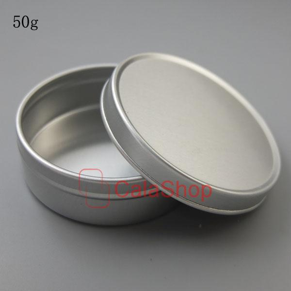 Empty Lip Balm Container Pots Cosmetic Jar Aluminum Tins 5ml 10ml 20ml 30ml 50ml