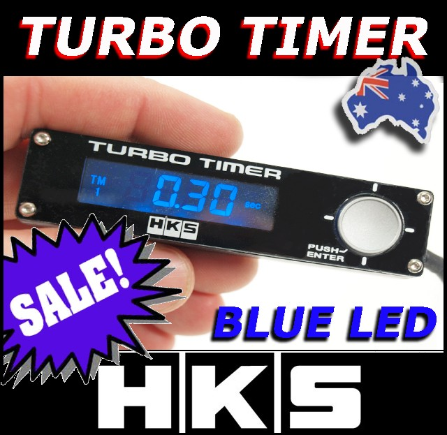 HKS-BLUE-Turbo-Timer-for-Subaru-WRX-EVO-Patrol-Ford-BA-Skyline-RB30