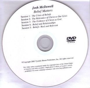 1 Josh McDowell Belief Matters Series DVD Apologetics Group Home Bible Study