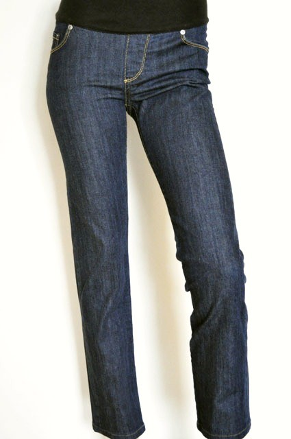 LADIES-SZ-10-JEANS-WEST-MATERNITY-BLUE-SLIM-STRAIGHT-LEG-DENIM-JEANS-NEAR-NEW