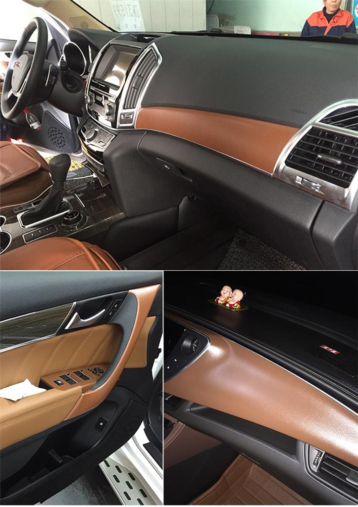 Leather Texture Car Sticker Vinyl Wrap Sheet Interior Decoration 3 Colors Ebay