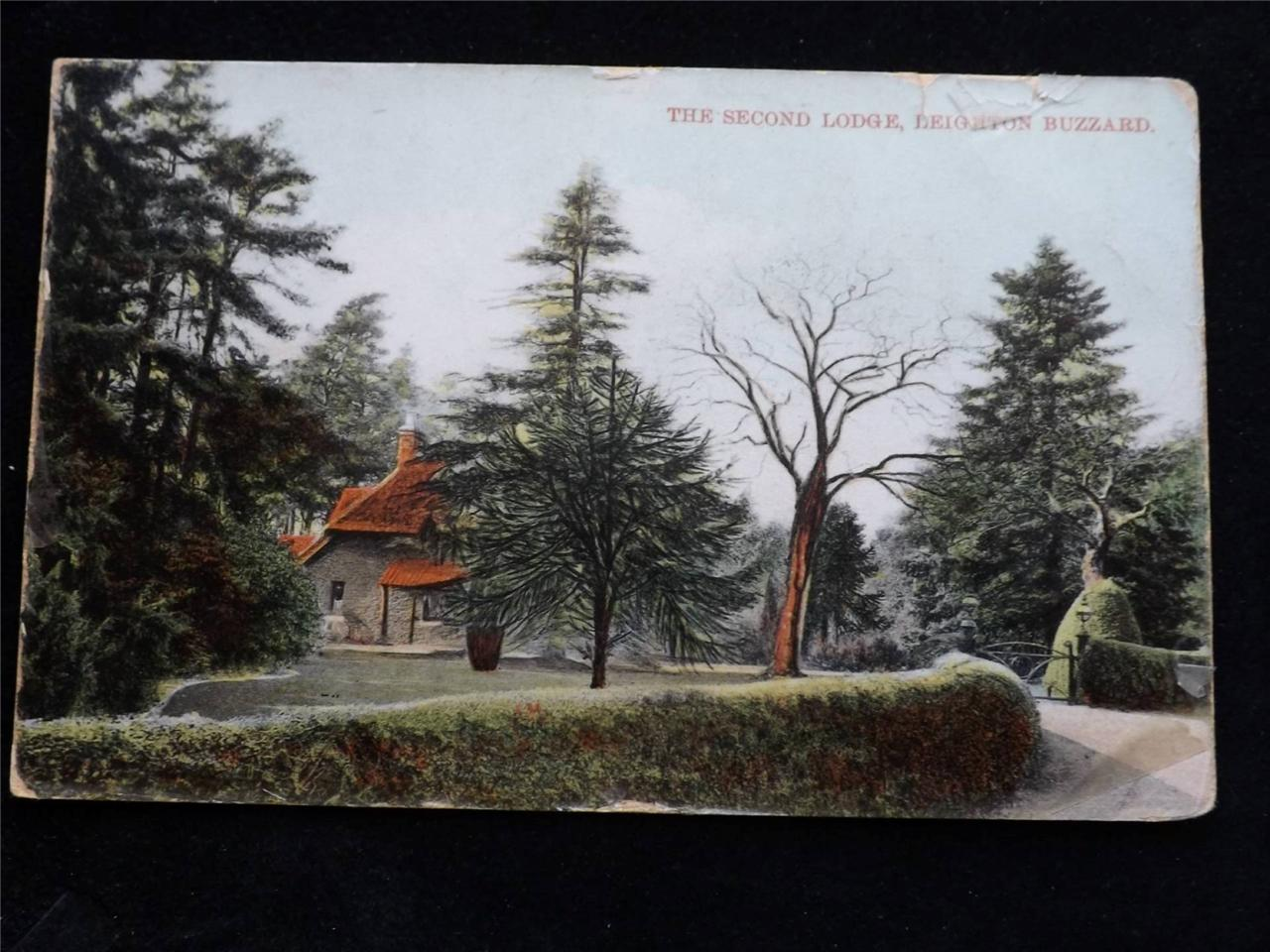 OLD-POSTCARD-OF-THE-SECOND-LODGE-LEIGHTON-BUZZARD-USED-1919