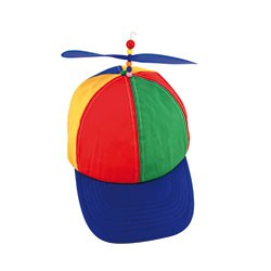 PROPELLOR-CAP-HELICOPTER-HAT-PREPELLER-CAP-CLOWN-HAT