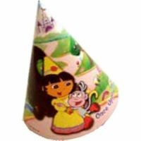 DORA-THE-EXPLORER-PARTY-SUPPLIES-HATS-8-PER-PACK-NEW