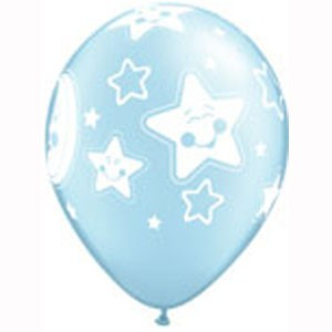 baby shower birthday supplies decorations balloons moon and stars blue