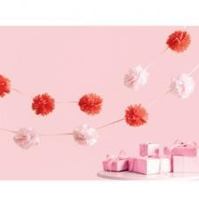 Martha stewart tissue garland paper pom pom decorations for Baby shower decoration ideas martha stewart