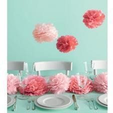 Martha stewart medium tissue paper pom pom decorations for Baby shower decoration ideas martha stewart