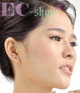 18K White Gold GP Austrian Swarovski Crystal Diamond Earrings E391A