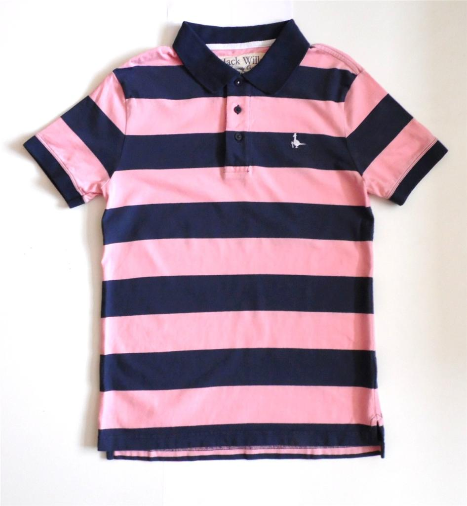 Jack wills xs s m l xl aldgrove navy pink stripe for Pink and purple striped rugby shirt