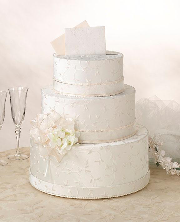 3 Tier Wedding Gift Box : Details about 3 Tier Ivory Cake Keepsake/Gift/ Wedding Card Box w/Lids