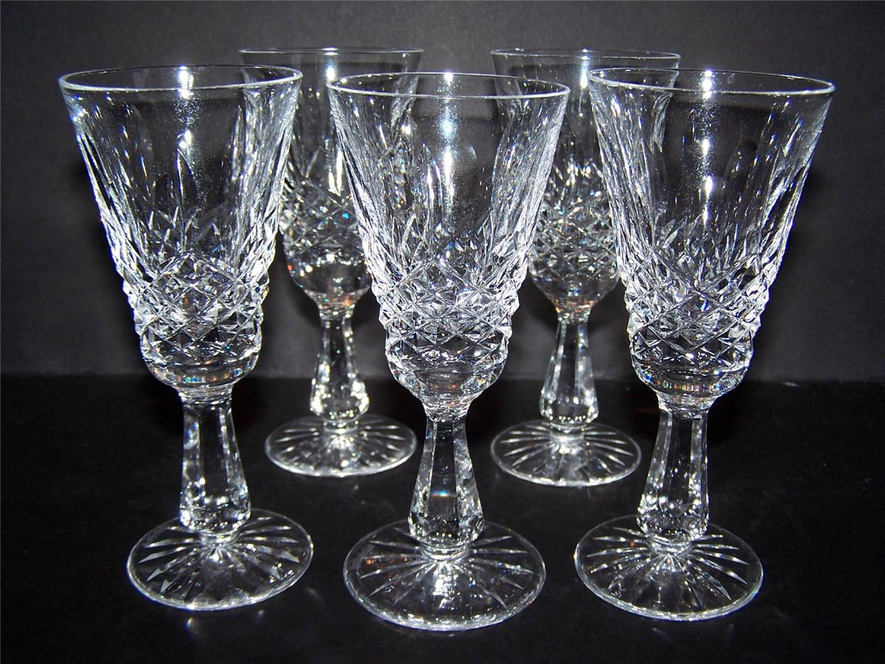 SET OF 5 WATERFORD IRISH CRYSTAL kenmore kylemore SHERRY ...