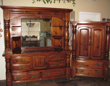 6 piece queen size bedroom set wood furniture mirror