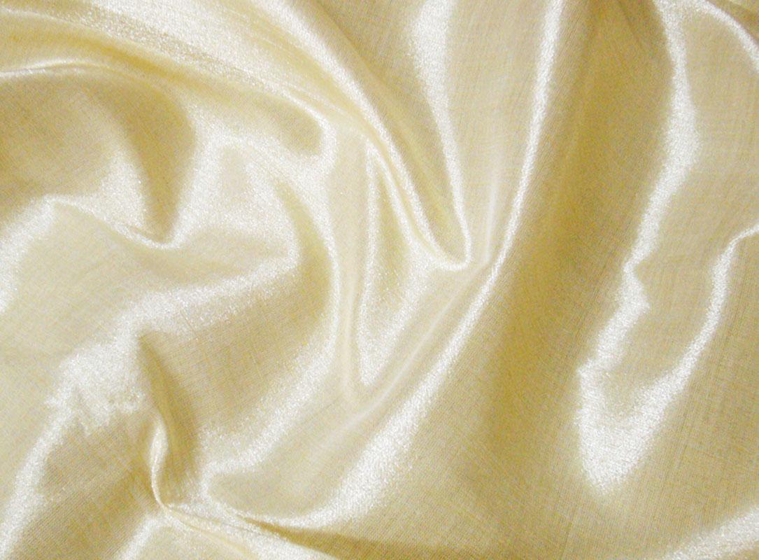 Cream Gold 100 Silk Metallic Fabric Brides Dress Craft | eBay