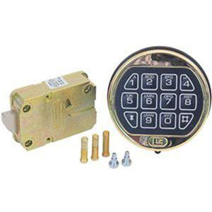 lagard basic ii electronic digital safe lock with bright brass keypad ebay. Black Bedroom Furniture Sets. Home Design Ideas
