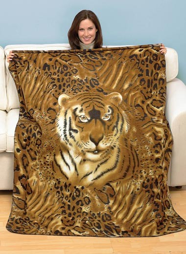 Animal-Fleece-Throw-Wildlife-Blanket-Wolf-Tiger-Cubs-