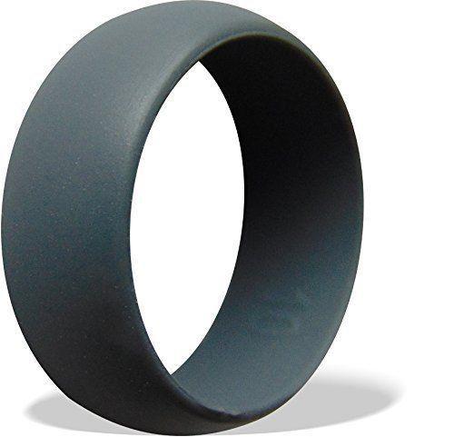 Flexible Silicone Rubber Wedding Band Ring Men Women Hypoallergenic
