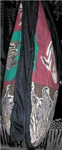 vtg vegan animal print oversized boho tote bag purse