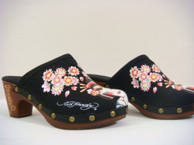 Mule Shoes Women on Ed Hardy Women Geisha Clogs Shoes Mules Black