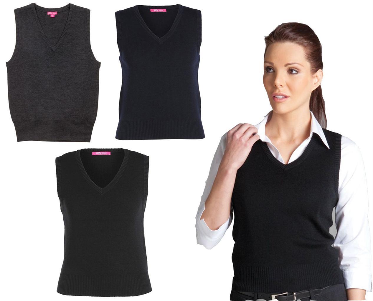 Knitting Pattern For Ladies Vest Top : Ladies Knitted Vest ~ JBs Wear 6V1 ~ Womens V-Neck knit ...