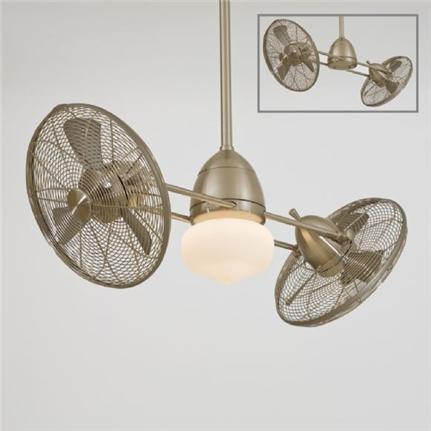 Minka Aire Nickel Gyro Outdoor Ceiling Fan F402 BNW