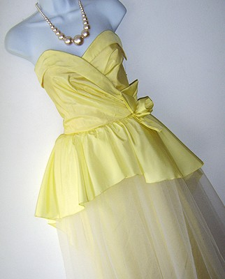 50s yellow wedding dress