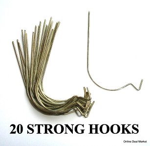 Pack Of 20 Strong Hooks Picture Wall Hanging Art Decor