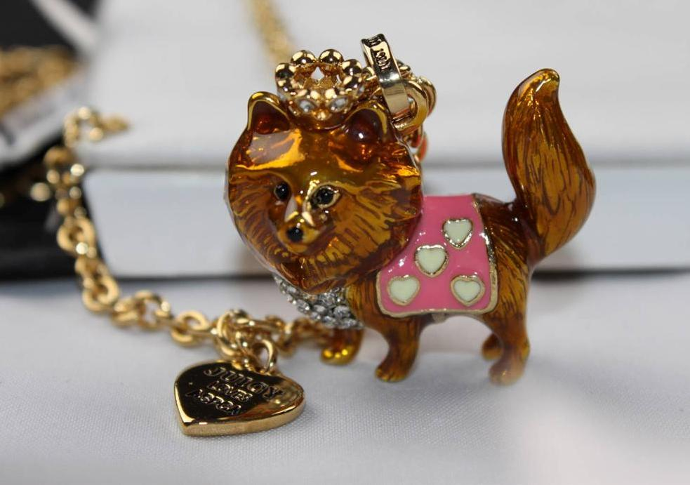 Nwt juicy couture aspca animal charm pendant gold chain for Juicy couture jewelry necklace
