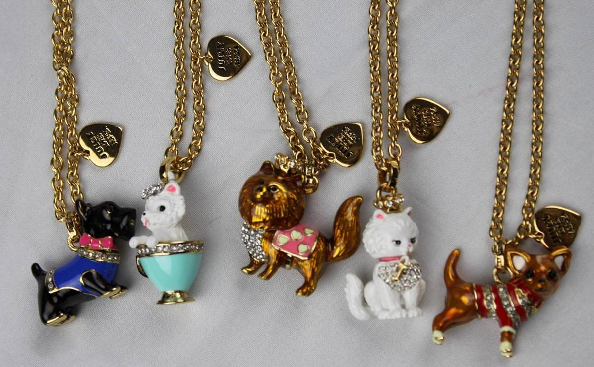 Juicy couture aspca animal charm pendant gold chain for Juicy couture jewelry necklace