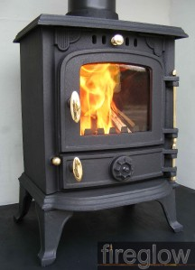 4kw fireglow so4 high efficiency multi fuel wood burning for Most efficient small wood burning stove
