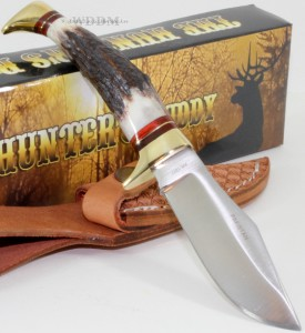 Rough Rider Hunter S Buddy Stag Bone Clip Point Skinning
