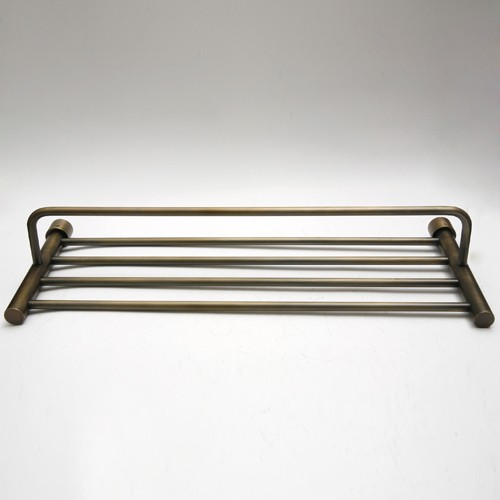 Antique Bronze Brass Hotel Style Towel Rack Shelf Bar Ebay